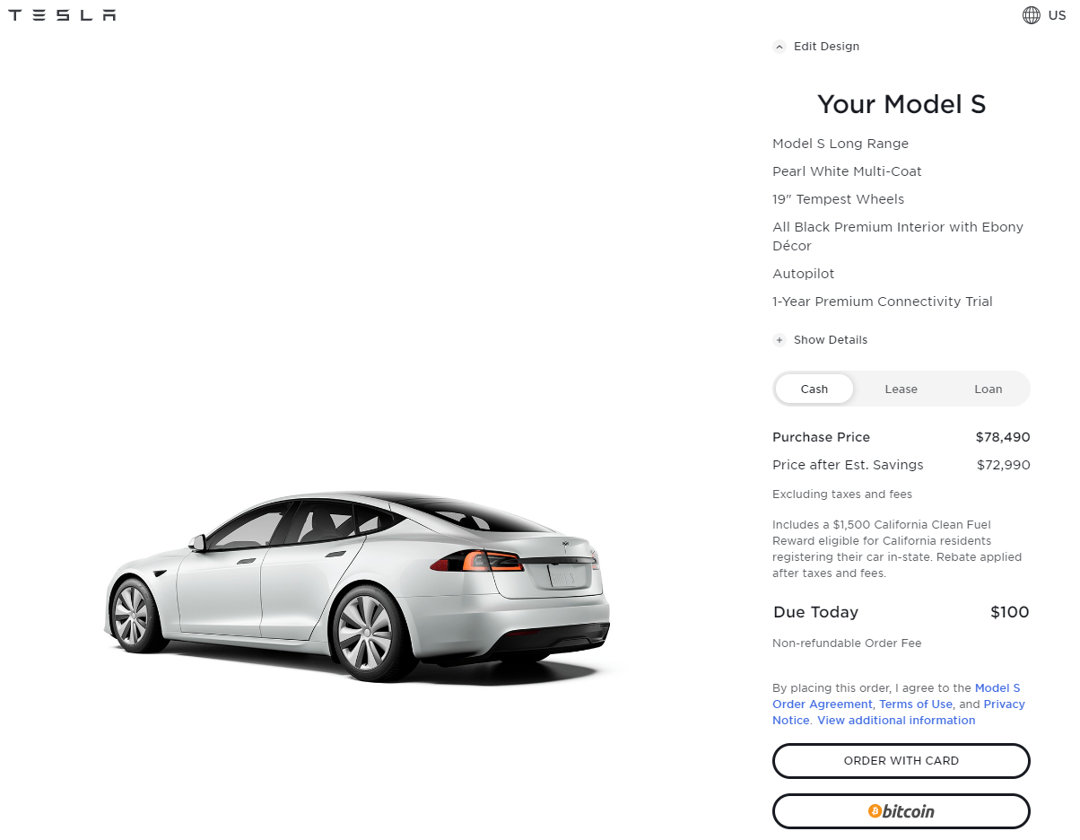 BREAKING: Tesla's US website supports using Bitcoin to pay-CnEVPost