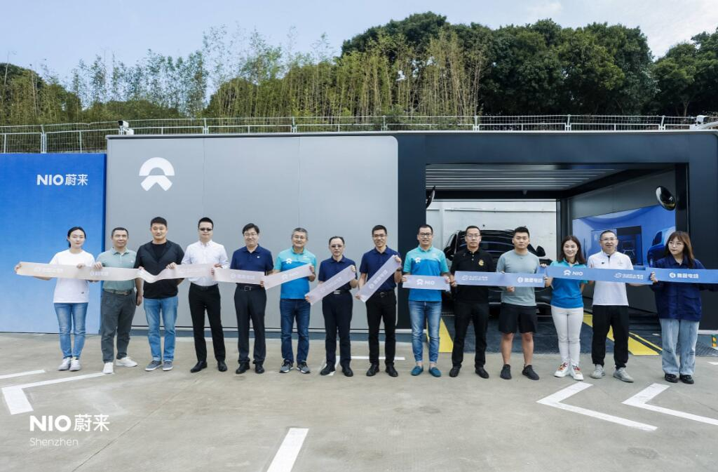 NIO's first second-gen battery swap station in Shenzhen goes into operation-CnEVPost