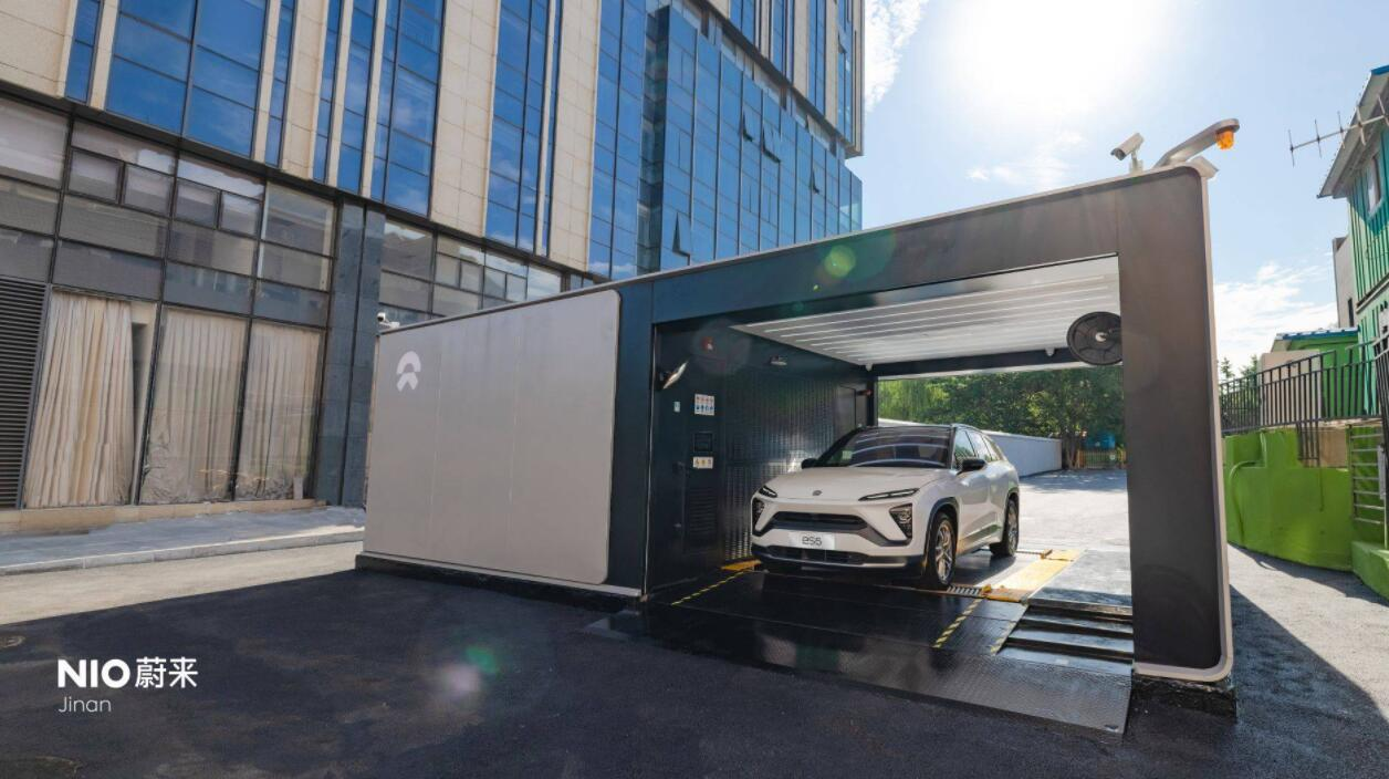 NIO's first second-gen battery swap station in Jinan, Shandong Province, goes live-CnEVPost