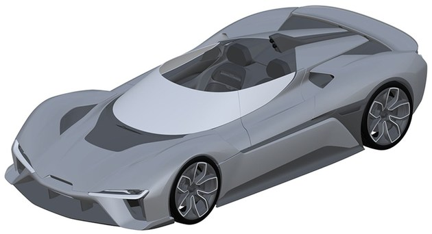 Patent drawings show NIO may launch convertible version of EP9 supercar-CnEVPost