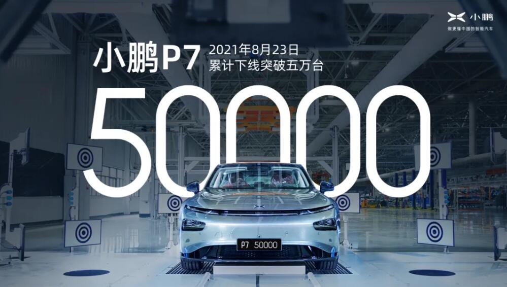 BREAKING: XPeng sees its 50,000th P7 roll off line-CnEVPost