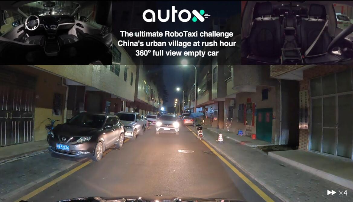 Chinese autonomous driving firm AutoX shows its capabilities on chaotic and dense roads-CnEVPost