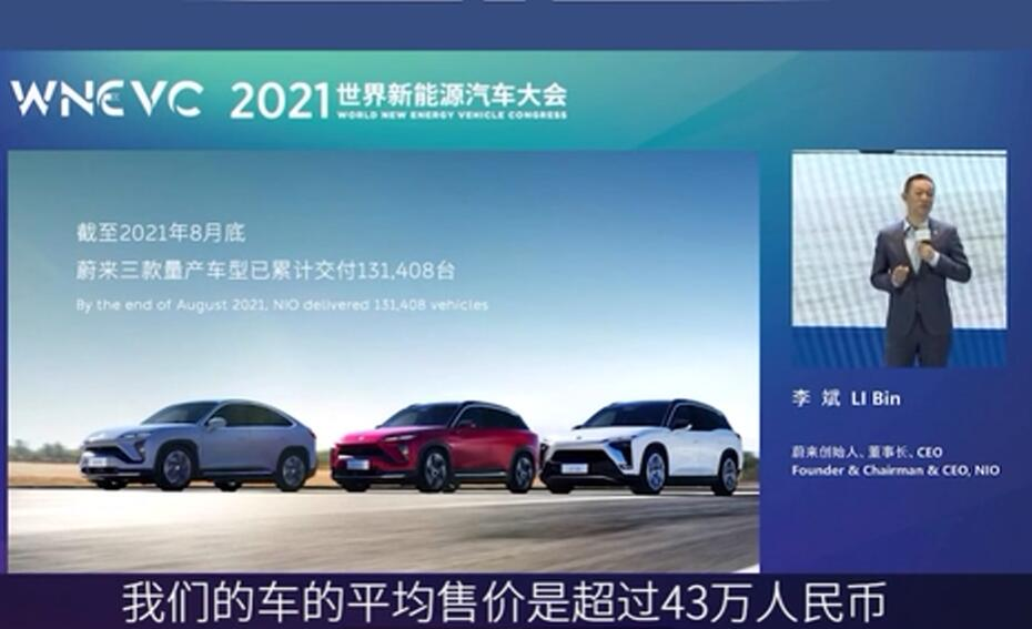 NIO's William Li expects China's NEV penetration rate to reach 20% next year-CnEVPost