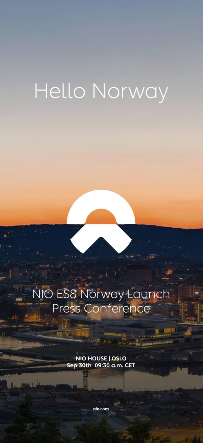 NIO to officially launch ES8 in Norway on Sept 30, local NIO House to open on Oct 1-CnEVPost