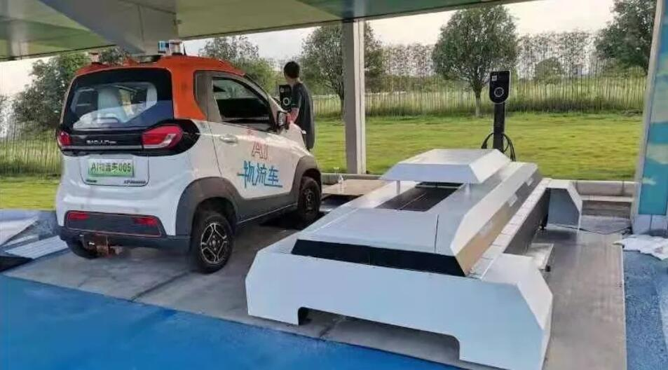 SAIC-GM-Wuling unveils mini battery swap station-CnEVPost