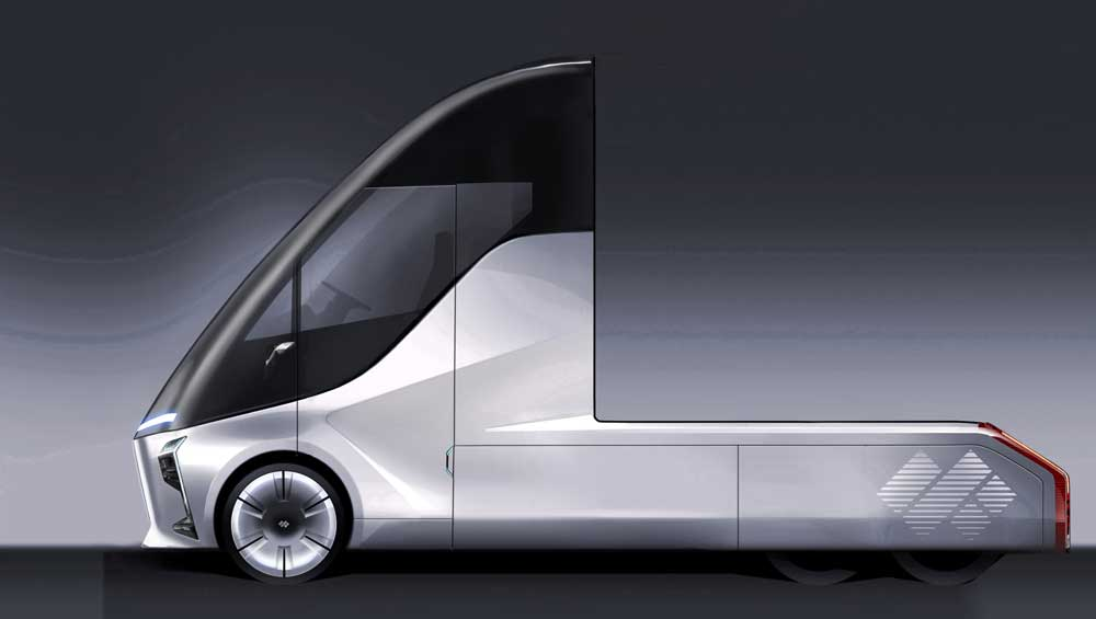 Baidu-backed DeepWay unveils heavy truck that can support up to L4 autonomous driving-CnEVPost